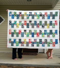 Another fun and easy quilt. Maybe use Hawaiian prints?
