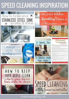 Use these speed cleaning resources to get your home tidied up FAST. A clean and clutter free home will significantly improve your mood, and make you much more productive during the day!