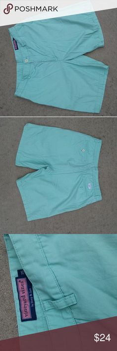 Vineyard Vines Men's Mint Green Club shorts sz 35 Very good condition!  Size 35 waist.  Mint green color. Vineyard Vines Shorts Flat Front