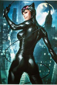 Gotham Sirens Catwoman Art Print