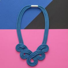 The Royal Loop Rope Necklace  Statement Necklace by SchnurMeTight