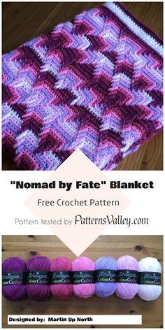 "Nomad by Fate"" Blanket - Free Crochet Pattern #freecrochetpatterns #crochetblanket #apachetears #crochet #motif #nativeamericans #yarn"
