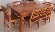 Daining Table, Dinning Tables And Chairs, Dinning Set, Diy Dining Table, Dining Table Design, Modern Wood Chair, Wood Chair Design, Tv Unit Furniture, Woodworking Furniture