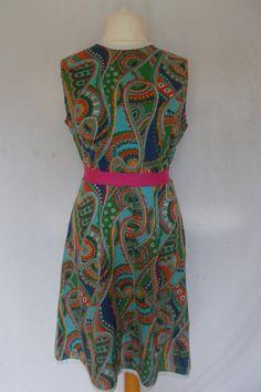 d8f485616f9 Vintage dress by Montgomery Ward 50 s 60 s paisley print dress size 14 16  UK Large