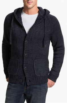 UGG® Australia 'Fulton' Hooded Button Cardigan available at Nordstrom