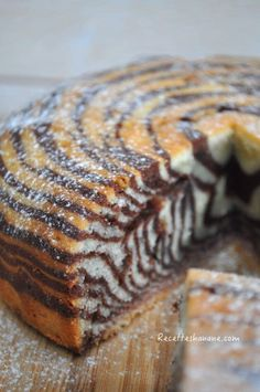 Zebra cake ou gâteau zébré