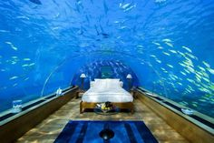 #hotel, #special #water  Underwater Hotel,Rangali Island, Maldives.