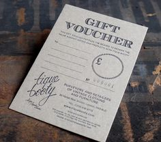 Gift voucher on 700 micron board | Flickr - Photo Sharing!