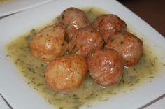 Recetas Thermomix: Albondigas de Merluza en salsa de vino blanco.