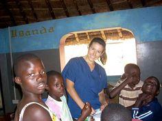My sweet Michelle doing volunteer work on Uganda....