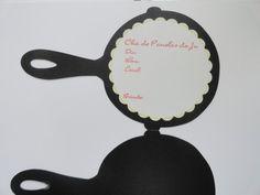 Convite Frigideira para Chá de Cozinha