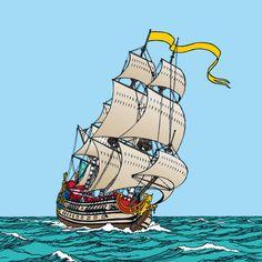 "POSTER TINTIN ""The secret of the unicorn"" • Tintin, Herge j'aime"