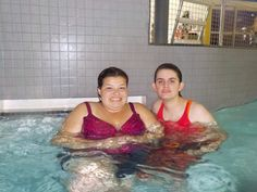Kayla and I swim pool