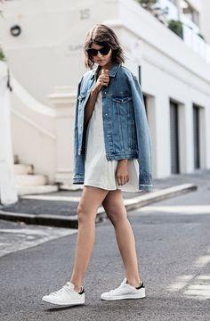 summer white dress and denim jacket | curated by ajaedmond.com | capsule wardrobe | minimal chic | minimalist style | minimalist fashion | minimalist  wardrobe | back to basics fashion