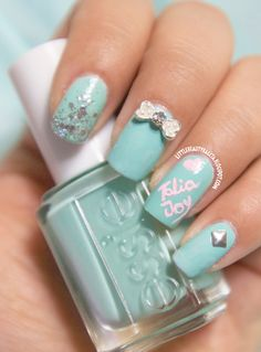Mint Mani for Talia Joy