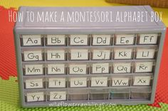 Make a Montessori Alphabet Box to help your child learn their alphabet letter sounds!