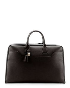48-Hour Trapeze Duffel Bag, Black by TOM FORD at Bergdorf Goodman.