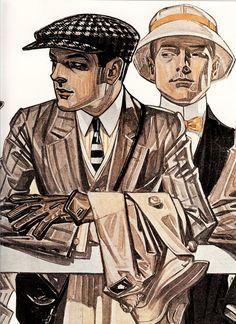 Illustration - J C Leyendecker American Illustration, Illustration Mode, Vintage Men, Vintage Fashion, Vintage Prom, Vintage Hats, Victorian Fashion, Jc Leyendecker, Arrow Shirts
