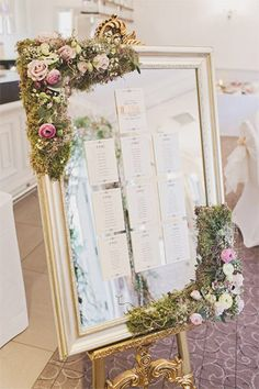 fairytale inspired wedding seating chart - brides of adelaide