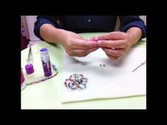 "Extra Small Round Paper Beads - In this video Janice Mae is demonstrating how to make extra small round paper beads using the metal roller and the bamboo roller.  Paper strips are 10"" long x 3/16"" base.  Makes 4 mm and 5 mm beads."