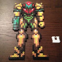 Samus Metroid perler beads by cthoward