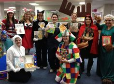 My team on Character Book Day! Character Halloween Costumes, Team Costumes, Teacher Costumes, Book Character Day, Character Dress Up, Character Ideas, Storybook Character Costumes, Storybook Characters, September Themes