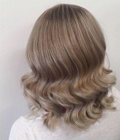Empress Hair Brisbane - Monique - Blonde Short Balayage Curls Ash