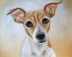 AANGEPASTE hond tekening van uw foto - 8 x 10 - realistische Hand getrokken kunst - kleur staand, pastels - Canine, Puppy, huisdier portret schilderij