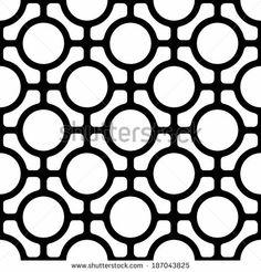 Seamless Monochrome Oriental Pattern - stock vector