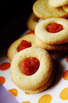 cookies with ace Jam Cookies, Cooking Cake, Doughnut, Cheesecake, Peach, Bread, Diet, Fruit, Desserts