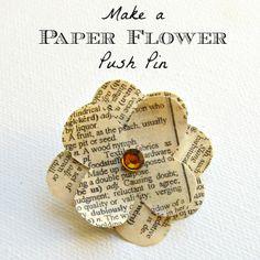 morena's corner: Make a Paper Flower Push Pin