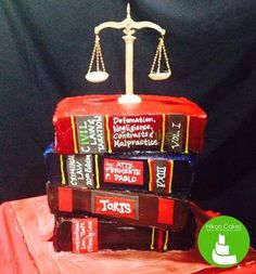 A great cake idea to celebrate the legacy of a great lawyer. Must love Nikon Cakes!  :) #nikoncakes #lawyer #edible