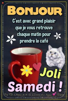 Bonjour C'est avec grand plaisir que je vous retrouve chaque... Bon Week End Image, Bisous Gif, French Language Lessons, Bon Weekend, Kittens Cutest, Facebook, Illustration, Funny, Amour Éternel