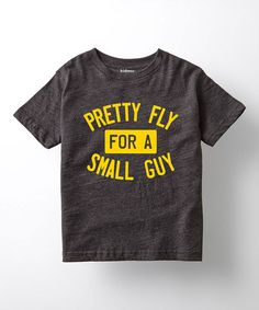 Heather Charcoal 'Fly for a Small Guy' Tee - Toddler & Boys #zulily #zulilyfinds