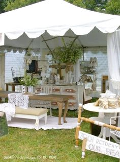 RETREAT booth at the Retreat Vintage Marketplace show, Camano Island, WA in June, 2011
