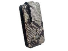 Genuine leather snake pattern iPhone4 bag from Cango & Rinaldi is handmade in Italy. This genuine leather iPhone4 brightens your outfit with its unique snake pattern and gives beautiful cover for you iPhone4S. iPhone4S bag is decorated with bright Swarovski crystals.