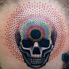 """I Googled """"psychedelic skull tattoo"""" and found this guy."""