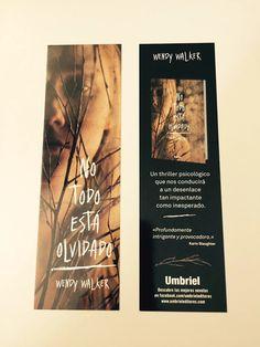 Punto de libro de 'No todo está olvidado' (Umbriel) de Wendy Walker. Album, Signs, Cover, Books, Deep, Book, Get Well Soon, Dots, Libros
