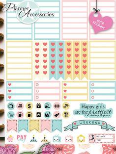 Sticker - 88 Stickers - Happy Planner Wochen Kit  Set01 - ein Designerstück von PlannerAccessories bei DaWanda
