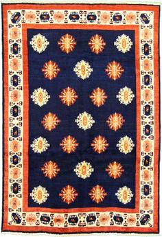 Navy Blue 6' 7 x 9' 6 Ghashghaei Rug | Persian Rugs | eSaleRugs... Foyer