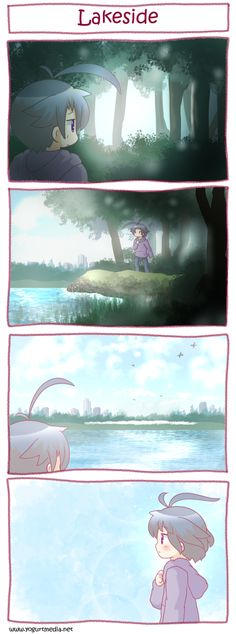 Another comic! Berry heads through the woods looking for a stray cat he was chasing. Before he knew it, Berry got lost. As he continues through the dark woods, he hears water, birds, and other soun…