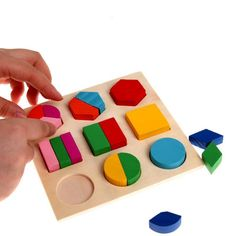 Painstaking Montessori Popular Early Learning Education Math Wooden Puzzle Toys For Children 3d Puzzle Colorful Geometry Shape Matching Game Toys & Hobbies