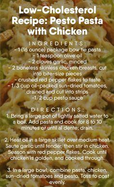 Low-Cholesterol  Recipe: Pesto Pasta with Chicken