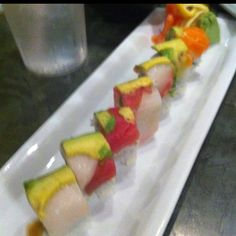Rainbows come as suchi and yummy is the word.