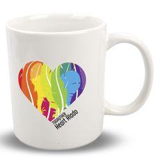 """#Taza #Gay """"Heart Alado"""" de la Colección """"Corazones y Plumas"""" + info en http://www.togayther.es/producto/taza-gay-heart-alado/ #mug #pluma #corazón"""