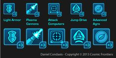Professional Work: Cosmic Frontiers Icons by Brandeles on DeviantArt