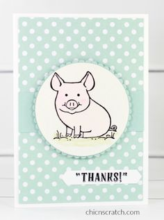 2017 Stampin& Up! Annual Catalog Product with Angie Juda This Little Piggy, Little Pigs, Fun Fold Cards, Folded Cards, Pig Stuff, Purple Cards, Kids Birthday Cards, Stampin Up Catalog, Bird Cards