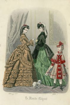 February, 1871 - Day dresses - Le Monde Elegant