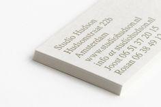 New business cards! Letterpress by Thomas Gravemaker. Graphic design: Studio Hudson. #letterpress #typography #design #graphicdesign #print #businesscards #studiohudson