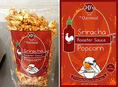 Sriracha Popcorn  I thought of Stuart when I saw this @Julie Burkhalter